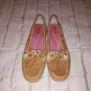 Sperry Top Sider Pink Plaid Flannel Shoes